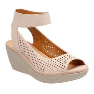 Clarks Collection Reedly Saleme Wedge Sandals